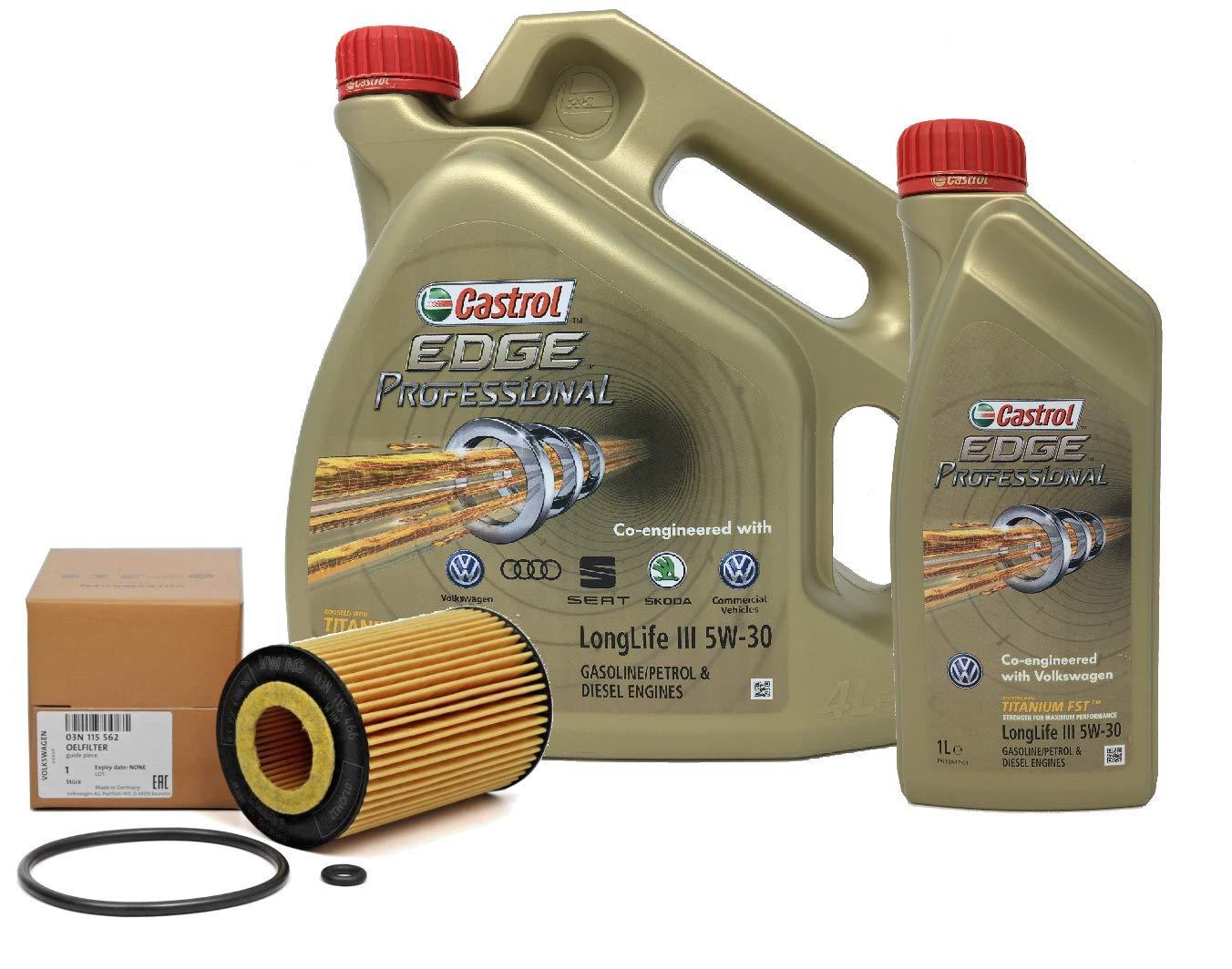 0 L Filtro de aceite Filtro aceite de Motor 03N115562 Audi Original A6 2